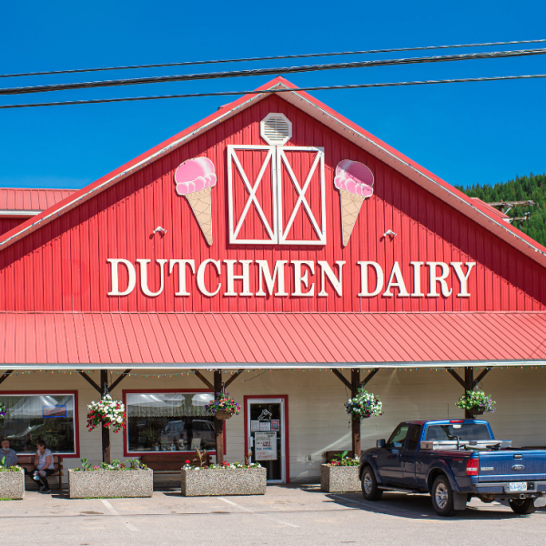 Outside D Dutchmen Dairy, Sicamous BC