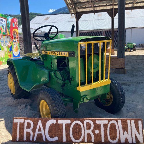 john deere tractor, tractor town, D Dutchmen Dairy, Sicamous BC
