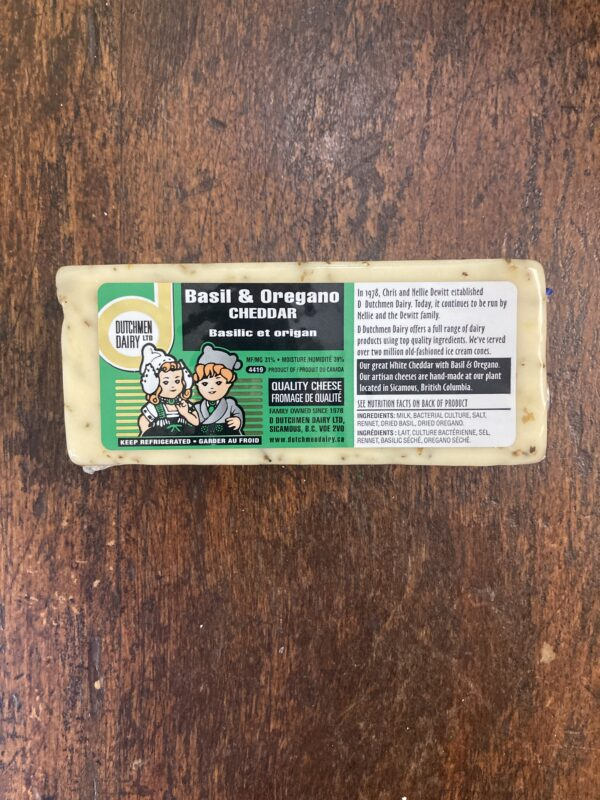 bail and oregano cheddar, D Dutchmen Dairy, Sicamous BC