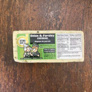 onion and parsley cheddar, D Dutchmen Dairy, Sicamous BC