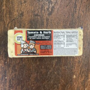 tomato and herb cheddar, D Dutchmen Dairy, Sicamous BC