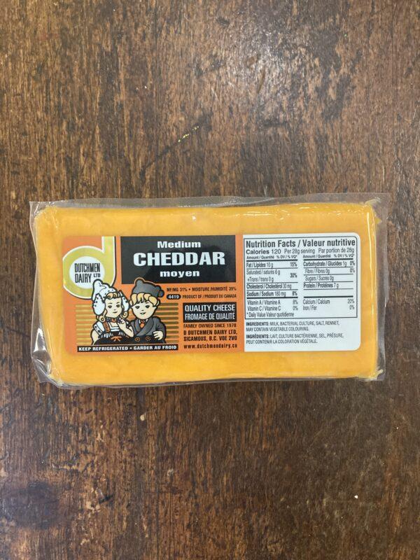 medium cheddar cheese, D Dutchmen Dairy, Sicamous BC