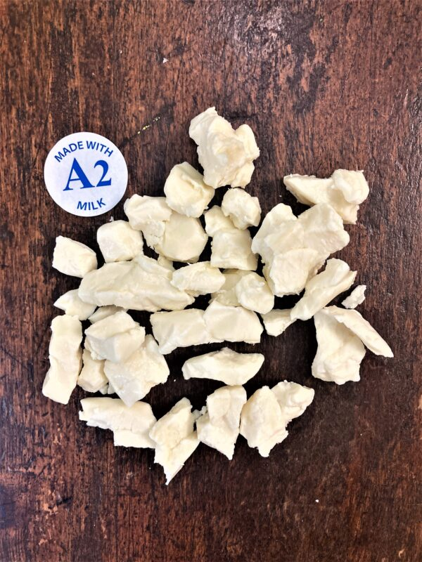 cheese curds, made with A2 milk, D Dutchmen Dairy, Sicamous BC