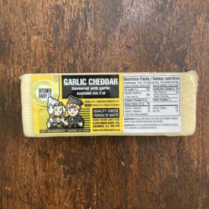 Garlic Cheddar Cheese, D Dutchmen Dairy, Sicamous BC