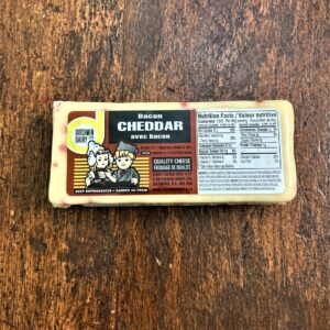 Bacon cheddar cheese, D Dutchmen Dairy, Sicamous BC