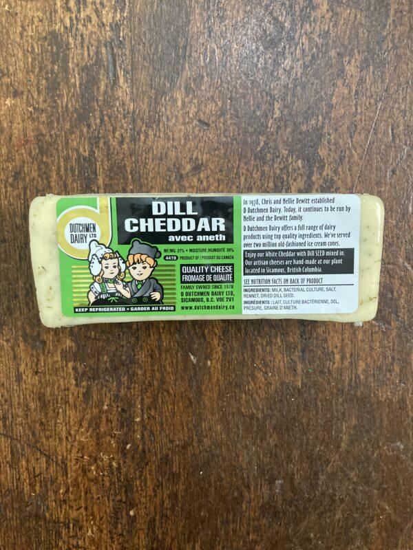 Dill Cheddar Cheese, D Dutchmen Dairy, Sicamous BC