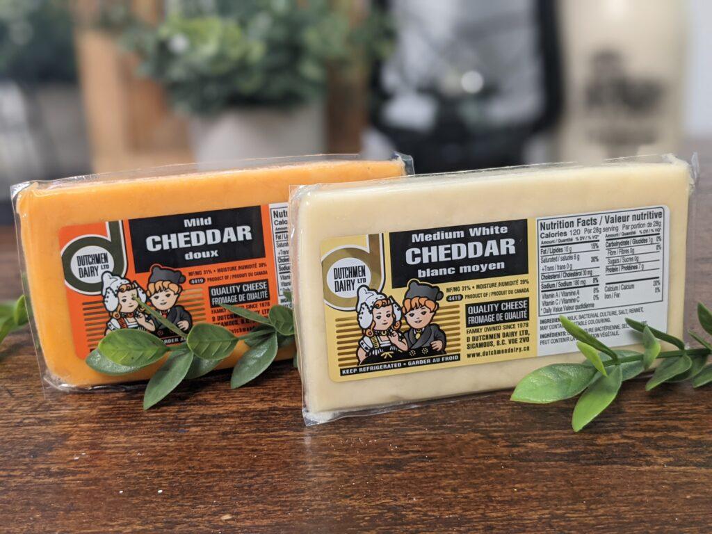 medium white and mild cheddar, D Dutchmen Dairy, Sicamous BC