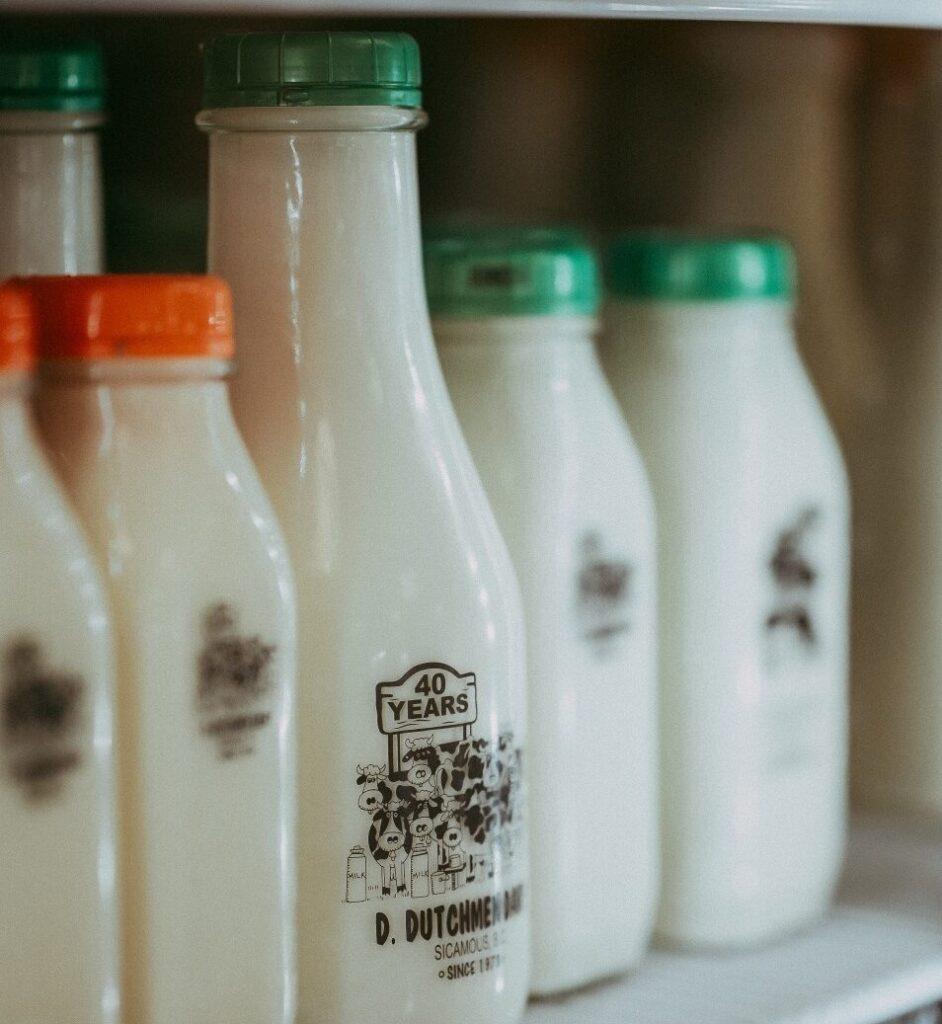 bottles of milk, D Dutchmen Dairy, Sicamous BC